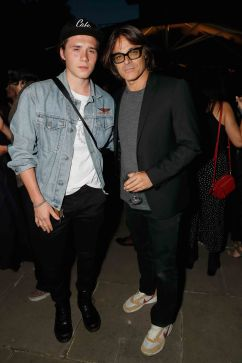 LONDON, ENGLAND - JUNE 22: Mario Sorrenti (R) and Brooklyn Beckham attend Kate Moss & Mario Sorrenti launch of the OBSESSED Calvin Klein fragrance at Spencer House on June 22, 2017 in London, England. Pic Credit : Dave Benett