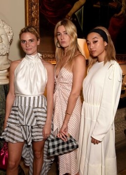 LONDON, ENGLAND - JUNE 22: (L-R) Pandora Sykes, Camille Charriere and Margaret Zhang attend the Kate Moss & Mario Sorrenti launch of the OBSESSED Calvin Klein fragrance launch at Spencer House on June 22, 2017 in London, England. (Photo by David M Benett/Dave Benett / Getty Images for Calvin Klein, Inc.) *** Local Caption *** Pandora Sykes; Camille Charriere; Margaret Zhang
