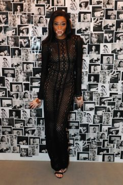 LONDON, ENGLAND - JUNE 22: Winnie Harlow attends Kate Moss & Mario Sorrenti launch of the OBSESSED Calvin Klein fragrance launch at Spencer House on June 22, 2017 in London, England. Pic Credit : Dave Benett